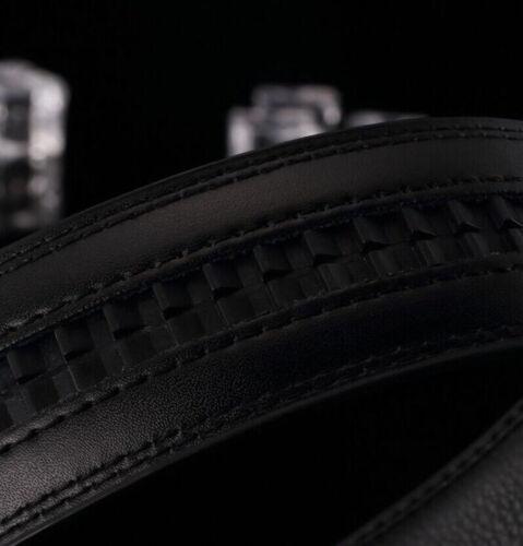Fashion Men/'s Genuine Leather Automatic Buckle Belts Waist Strap Belt Waistband
