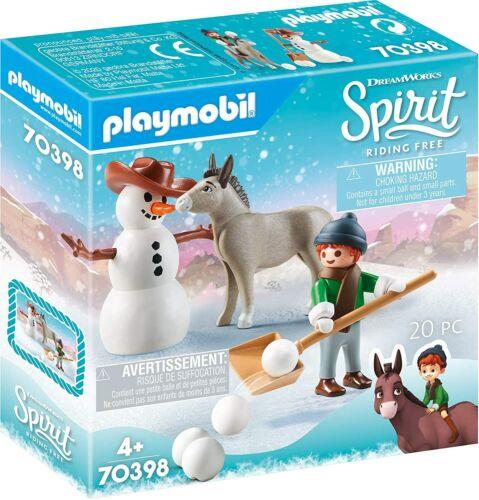 Playmobil DREAMWORKS Spirit pupazzo di neve con Forbice e Senor carote
