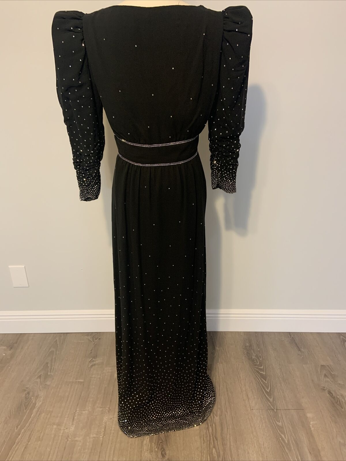 Arnold Scaasi Womens Vintage Couture Black Silk C… - image 5