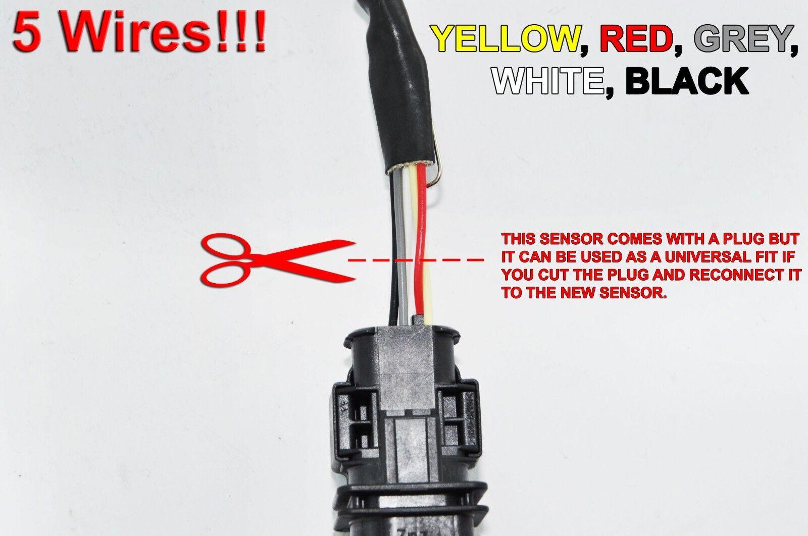 Universal Lambda Oxygen Sensor 5 Wires O2 Probe Genuine Bosch Code  0258017119 for sale online | eBayeBay