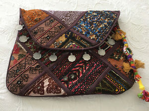 12a71b3aa3338 Vintage Boho Clutch Bag Hippie Style Indian Banjara Gypsy Shoulder ...