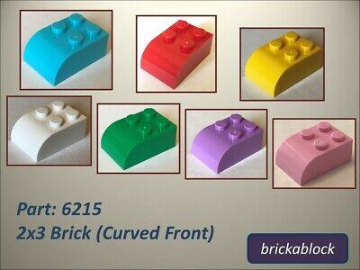 LEGO PART 6215 BLACK BRICK MODIFIED 2 X 3 CURVED TOP X 2 PCS