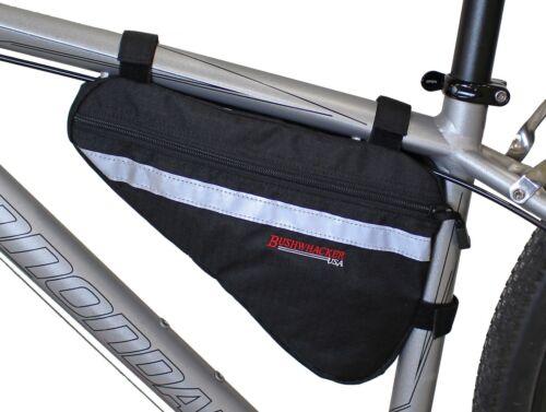 Bushwhacker Gallup Black Bicycle Frame Bag Cycling Pack Seat Top Tube Bike Wedge