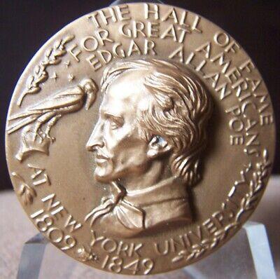 Edgar Allan Poe Medallic Art Hall of Fame Medal for Great