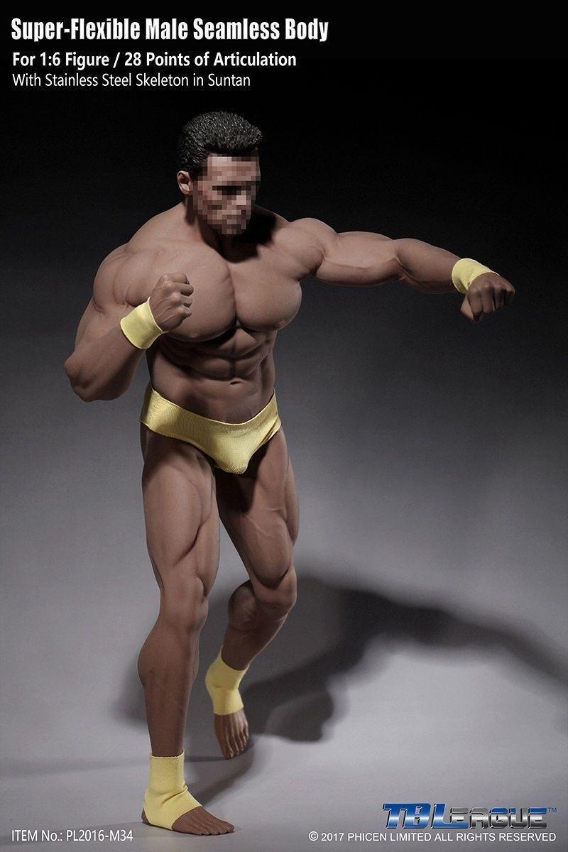 Tbleague pl2016-m34 männliche action - figur 1   6 muskulöse nahtlose körper collecte spielzeug
