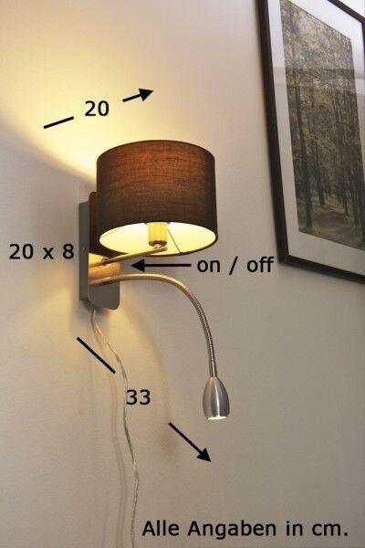 LED Wandleuchte Lampe Wandlampe Leuchte Leseleuchte Flurlampe Bettleuchte