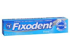 Fixodent Free Denture Adhesive Cream 2.40 oz