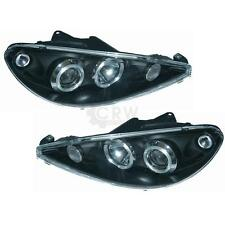 Scheinwerfer Set Peugeot 206 Bj. 98-06 Angel Eyes klarglas/schwarz SONAR 1003228