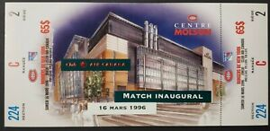 1996-Molson-Centre-1st-Game-Montreal-Canadiens-New-Arena-Hockey-Full-Ticket-NHL