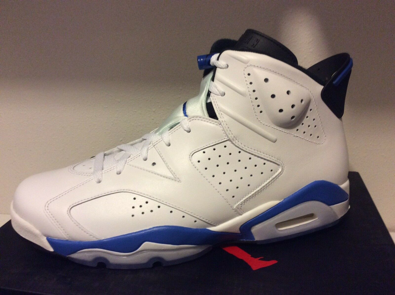 Nike Air Jordan Jordan Jordan Retro 6 White bluee OG everything DS RECEIPT Motorsport 648629