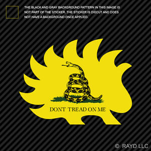 libertarian porcupine dont tread on me sticker decal self