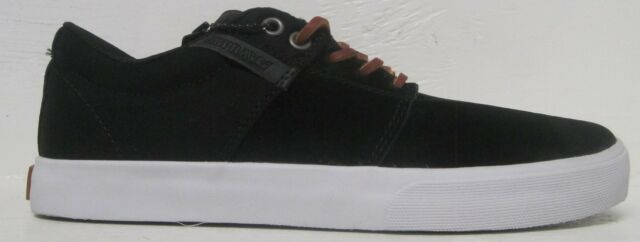 SUPRA Stacks Vulc DLX Skateboarding Shoes Black Brown S92007 Terry ... a6606bb8bd