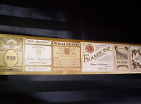 European Champagne / Liqueur Label Border 610