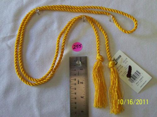 "Chairtie Bright Golden Yellow T255 Tieback 54/""spread with 3/""tassel"
