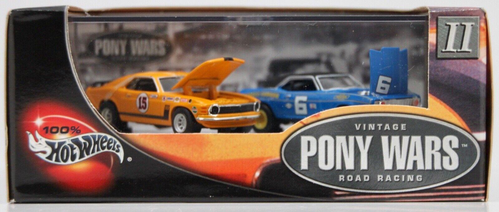 2002 NOS HOT Wtalons 100% Vintage PONY  WARS Road Racing II 69 Camaro 70 Mustang  détaillants en ligne