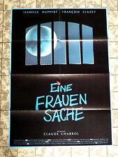 EINE FRAUENSACHE * Huppert - A1-FILMPOSTER - German 1- Sheet ´89 Claude CHABROL