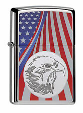 ZIPPO ® Eagle and Flag-Adler e degli Stati Uniti bandiera-Stars and Stripes-NEW/Nuovo OVP