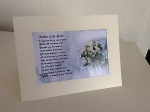 Personalised greeting card mother of the bride poem various image is loading personalised greeting card 034 mother of the bride m4hsunfo