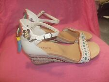 Staccato embellished Leather Wedge Sandals, Size UK 7, EU 41 NEW...Tried on only