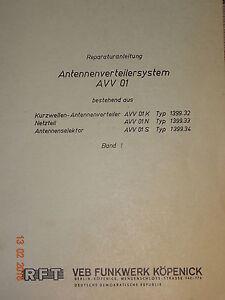 AVV01-Reparaturanleitung-Bd1-Schaltbilder-RFT-Funkwerk-Koepenick