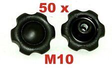 50x M10 Sterngriff Sternschraube Sternmutter Kreuzgriff  Klemmmutter Neu