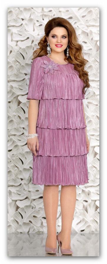 Abendkleid Big Größe Gr.44,46,48,50,52 .Farbe Lila