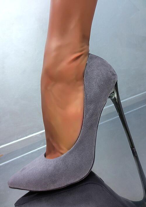 Hohe Grau Metall Y31 High Heels Damen Sexy Classic 2019 Y31 Metall Luxus Schuhe Pumps 36 f46bf3