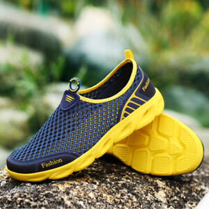 Men-039-s-Breathable-Mesh-Shoes-Casual-Slip-On-Loafers-Outdoor-Water-Shoes-Sneakers