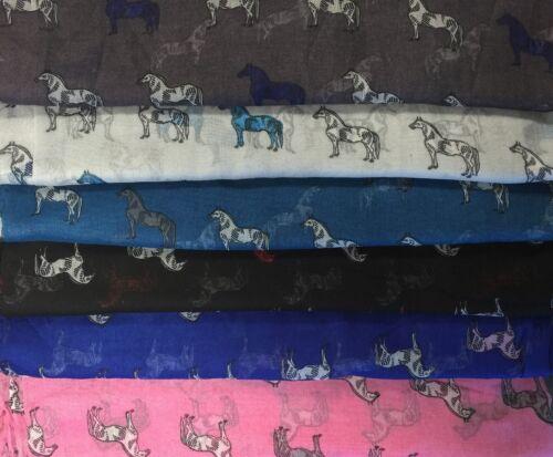 Nueva llegada de mujer señoras de Largo caballo Estampado Animal Cuello Bufanda Estola Cálido