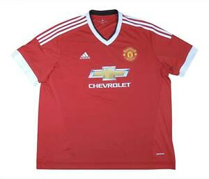 Manchester United 2015-16 Authentic Home Shirt (eccellente) XXXL Soccer Jersey