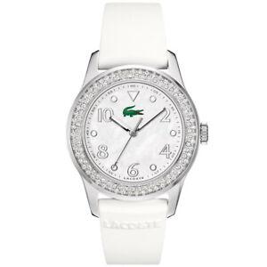 Lacoste-2000647-Advantage-weiss-Silikon-Armband-Uhr-Damen-NEU