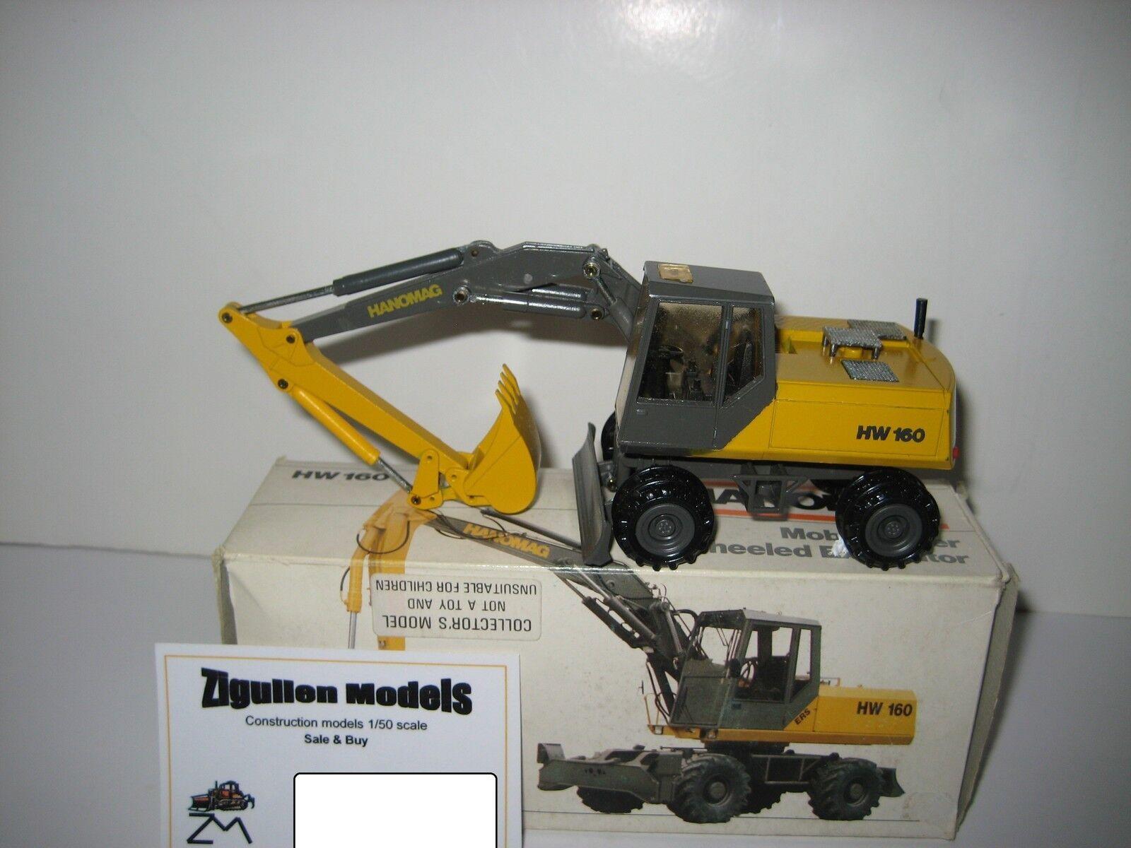Hanomag HW 160 Excavateurs tieflöffel mobile Schlüter  2817.4 CONRAD 1 50 NEUF dans sa boîte