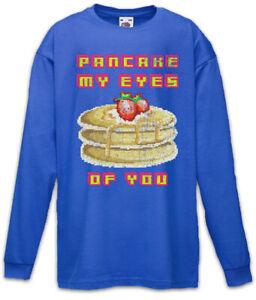 Pancake-My-Eyes-of-You-Kinder-Langarm-T-Shirt-Nerd-Fun-Pancakes-Pfannkuchen