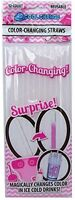 Gender Reveal Pink - Color Changing Straws, New, Free Shipping on sale