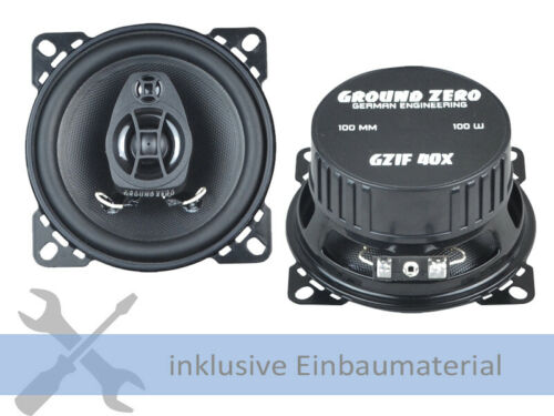C107 Ground Zero GZIF40X 200W 100 mm 2 Wege Koax für Mercedes SL R
