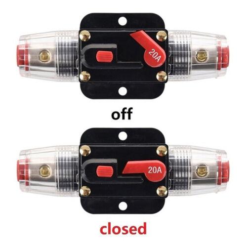 Auto Lkw Stereo Audio Verstärker Leistungsschalter Manuelle Sicherung Inline Tb