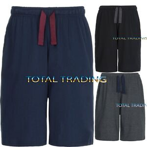 Mens-Jersey-soft-Sleep-Night-Wear-Pyjamas-PJ-Bottoms-Lounge-Shorts-s-m-l-xxxxl