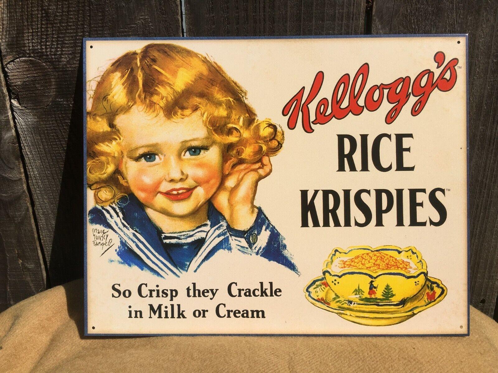 Retro metal Sign//Plaque Wall vintage Kitchen Gift Kellogg/'s Tiger Power