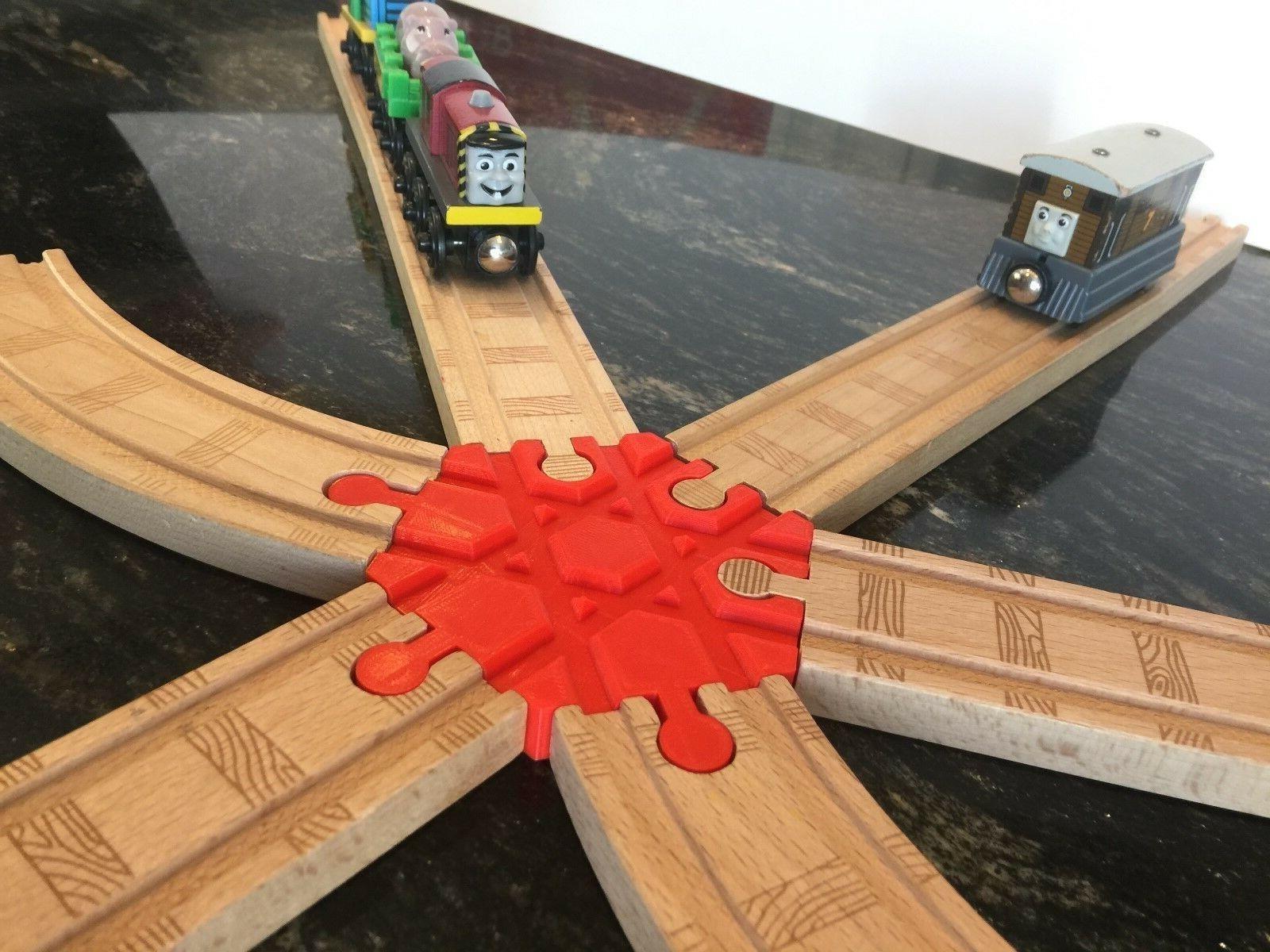 4 Way Bois Train Track Adapter Thomas The Tank Brio IKEA-choisissez votre couleur! 2