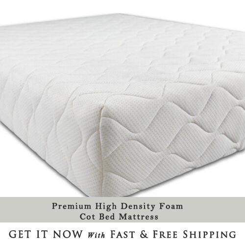 new concept 755e9 84f01 Baby Quilted Cot Junior Bed Cotbed Mattress Fully Fitted Waterproof Zipped  Cover