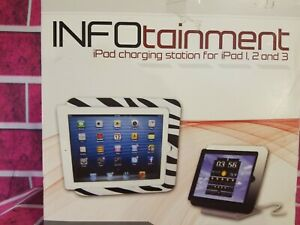 INFOTAINMENT-APPLE-IPAD-CHARGE-DOCK-STAND-STATION-GENS-1-2-3-LEOPARD-CABLE-NEW