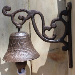 Image Is Loading Vintage Rustic Cast Iron Door Bell Chime Ring