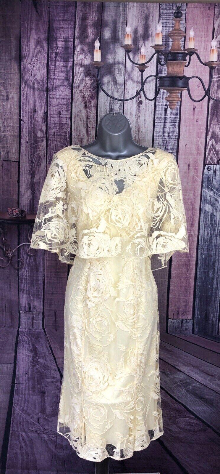John Charles New S10 Lemon Mother of the Bride/Groom Wedding Guest Dress &Bolero