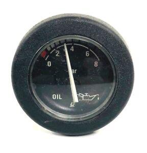 """BEZEL 80 PSI 944982 MARINE BOAT OIL PRESSURE GAUGE 2/"""" BLACK FACE"""