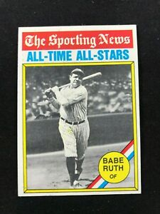 Details About 1976 Topps 345 Babe Ruth All Time Greats Baseball Cardnmnm Mtyankees