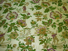 "~BTY~ 100% SILK~CHINOISERIE""CHINESE FISHERMAN~UPHOLSTERY FABRIC FOR LESS~"