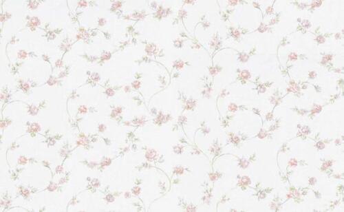 Landhaus Vlies Floral Blumen Tapete  5824-05  rosa grün