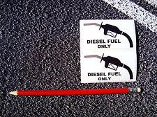Combustible diesel sólo advertencia Pegatinas Calcomanías de coches taxi CITROEN FIAT OPEL TDI