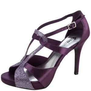 "FIONI NIGHT Purple LOVVATO Strappy SANDAL 4"" Heel SZ 13 New ..."