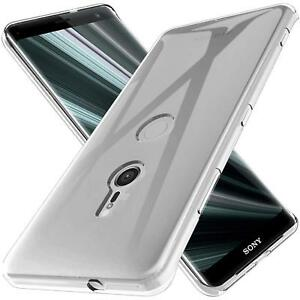 Transparent-Slim-Cover-Sony-Xperia-XZ3-Handy-Huelle-Silikon-Case-Schutz-Tasche